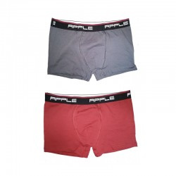 Men Boxer Grey-Red 2 Pc