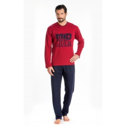 Men Pijamas Midnight Bordo
