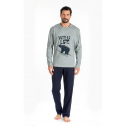 Men Pijamas Bear Grey