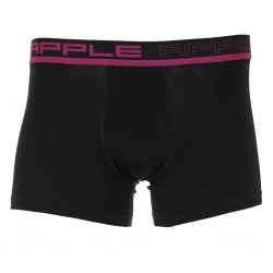Men Boxer Short Black Fuchsia