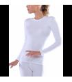 Ισοθερμική Γυναικεία Φανέλα Μακρυμάνικη Λευκό
