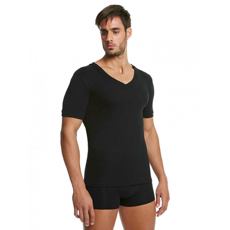Palco Men T-Shirt V Classic Comfort Black 6/520