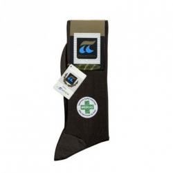 Pournara Κάλτσες βαμβακερές Χωρίς Λάστιχο Καφέ ART  : 160