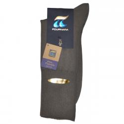Pournara Κάλτσες Βαμβακερές Χωρίς Λάστιχο Γκρι ART : 110