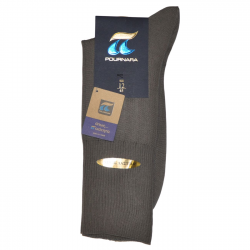 Pournara Socks Cotton No Rubber Grey ART : 110