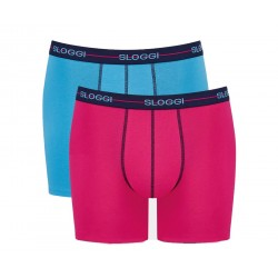 Sloggi Boxer Μen Start Short C2P Light Blue-Pink 122119407