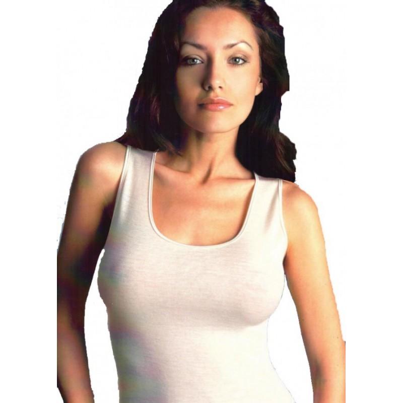 Tre Οrsi Prestige Γυναικείο Φανελάκι Μαλλί-Μετάξι 023