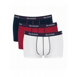 Sloggi Men Start Hipster Blue/Red/White 3 Pc 122124403